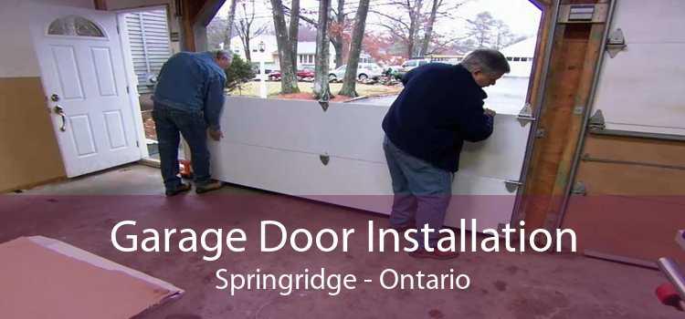 Garage Door Installation Springridge - Ontario