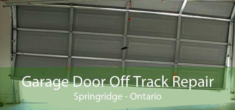 Garage Door Off Track Repair Springridge - Ontario