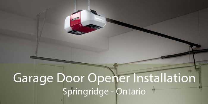 Garage Door Opener Installation Springridge - Ontario