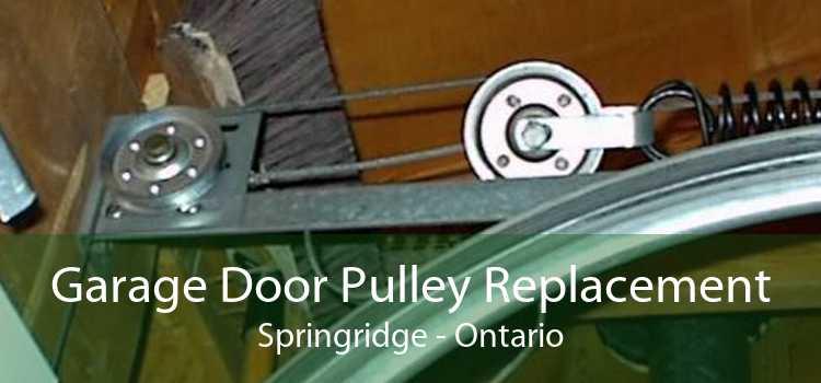 Garage Door Pulley Replacement Springridge - Ontario
