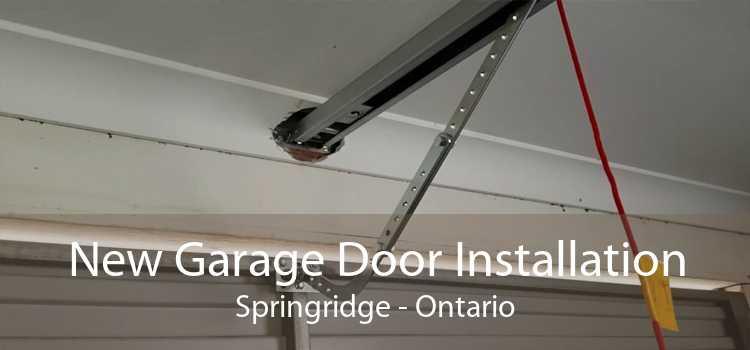New Garage Door Installation Springridge - Ontario