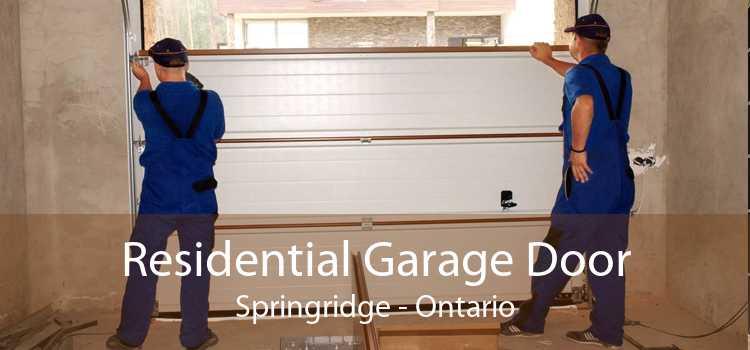 Residential Garage Door Springridge - Ontario