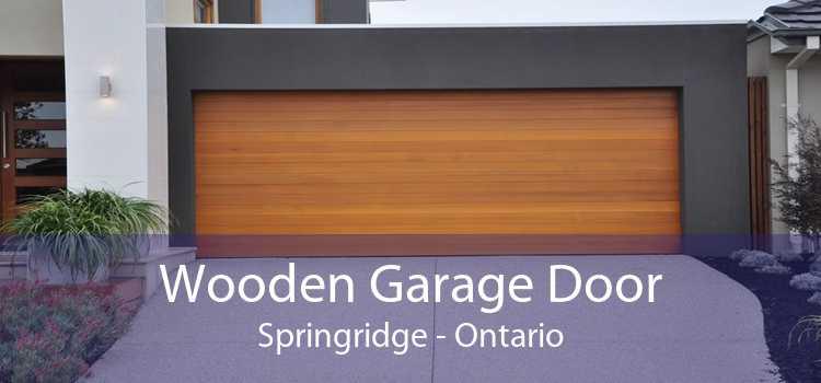 Wooden Garage Door Springridge - Ontario