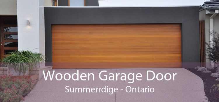 Wooden Garage Door Summerrdige - Ontario